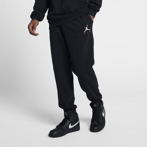 (取寄)ジョーダン メンズ ジャンプマン エア フリース パンツ Jordan Men's Jumpman Air Fleece Pants Black White