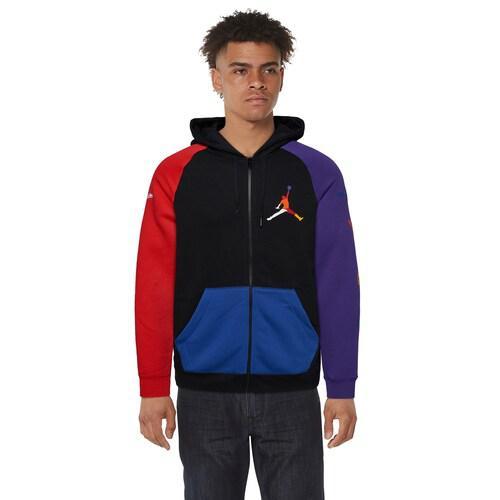【エントリーでポイント10倍】(取寄)ジョーダン メンズ ライバルリー フルジップ フーディ Jordan Men's Rivals Full-Zip Hoodie Black University Red Court Purple