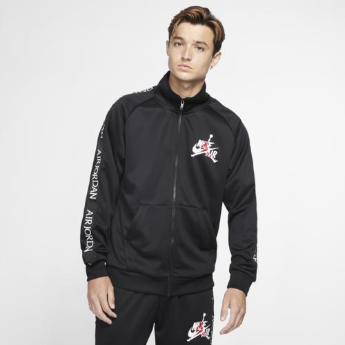 (取寄)ジョーダン メンズ クラシック トリコット ウォームアップ ジャケット Jordan Men's Classic Tricot Warm-Up Jacket Black