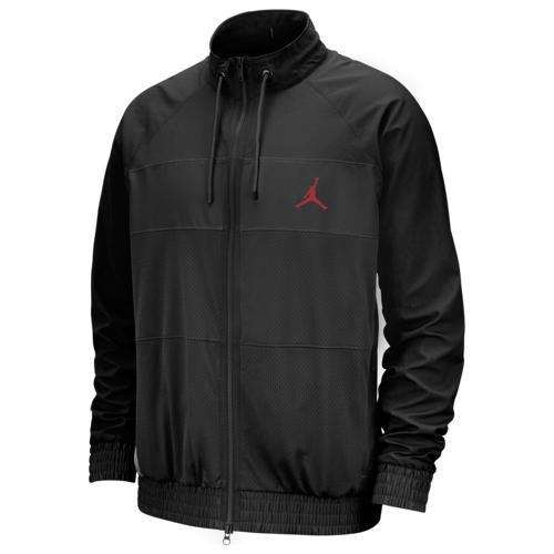 【エントリーでポイント10倍】(取寄)ジョーダン メンズ ウィングス スーツ ジャケット Jordan Men's Wings Suit Jacket Black Gym Red
