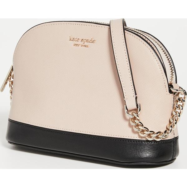 (取寄)ケイトスペード スペンサー スモール ドーム クロスボディ バッグ Kate Spade New York Spencer Small Dome Crossbody Bag WarmBeige Black