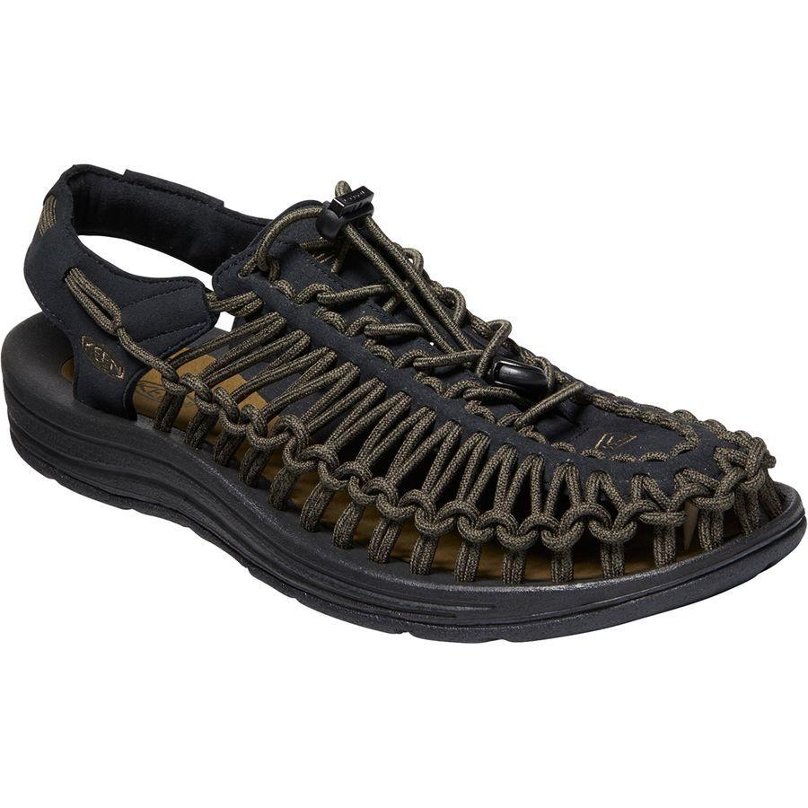 (取寄)キーン メンズ ユニーク サンダル KEEN Men's Uneek Sandal Black/Dark Olive