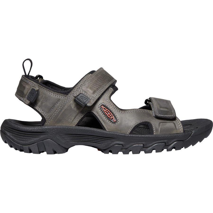 (取寄)キーン メンズ ターギー 3 オープン トー サンダル KEEN Men's Targhee III Open Toe Sandal Grey/Black