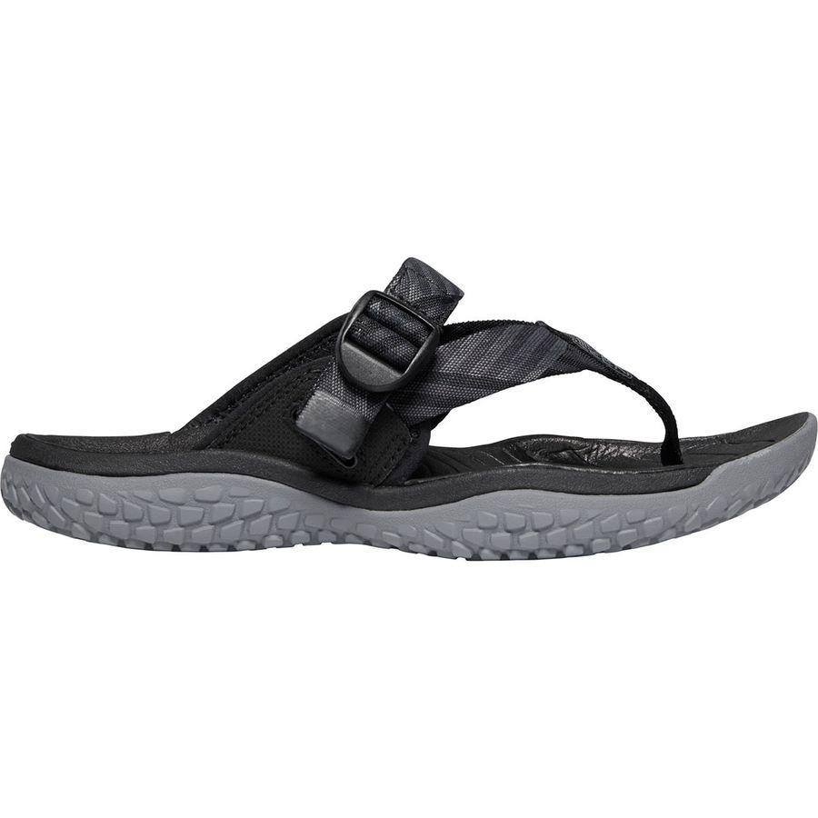 (取寄)キーン レディース SOLRトー ポスト サンダル KEEN Women SOLR Toe Post Sandal Black/Steel Grey