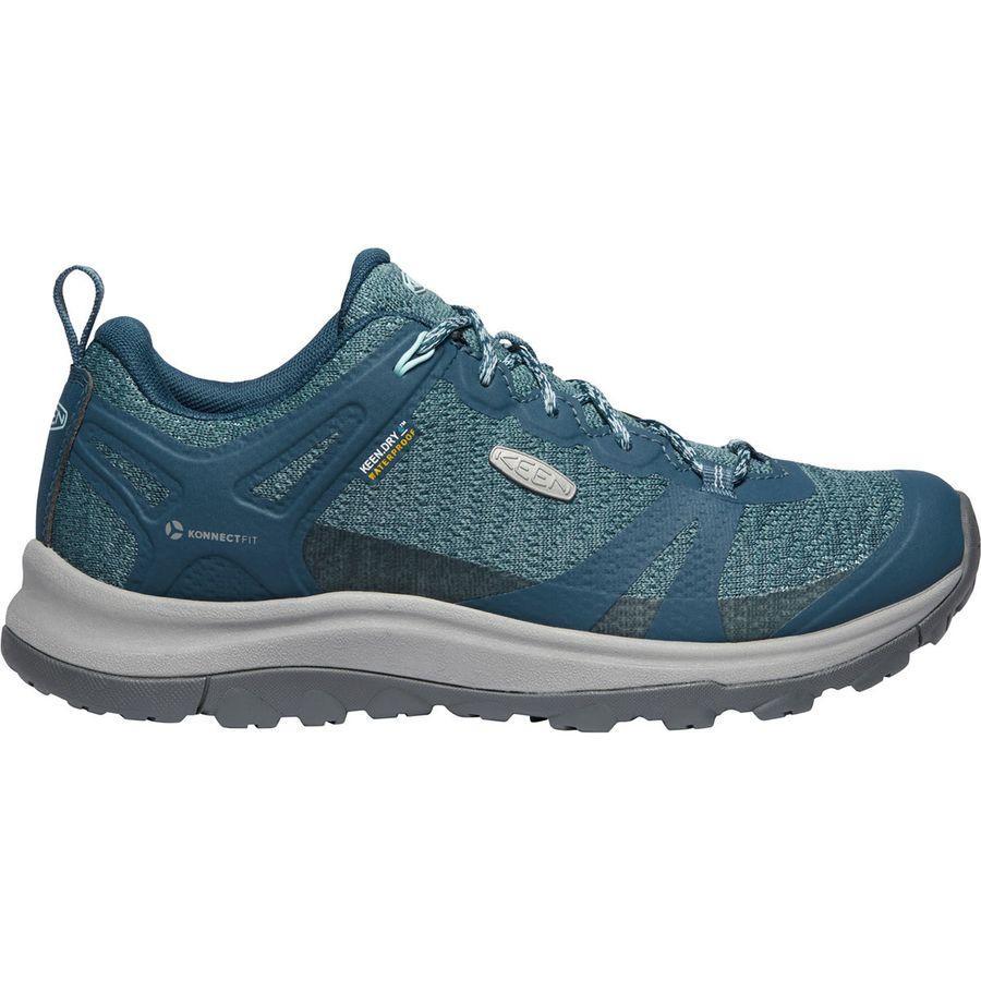 【マラソン ポイント10倍】(取寄)キーン レディース テラドーラ 2 WP ハイキング シューズ KEEN Women Terradora II WP Hiking Shoe Tapestry/Blue Glow