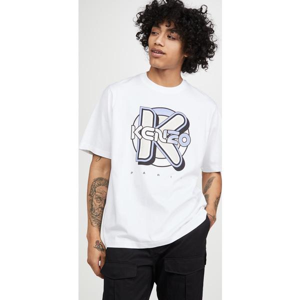 【エントリーでポイント10倍】(取寄)ケンゾー ケンゾー ウェットスーツ オーバーサイズ Tシャツ KENZO Kenzo Wetsuit Oversize T-Shirt White