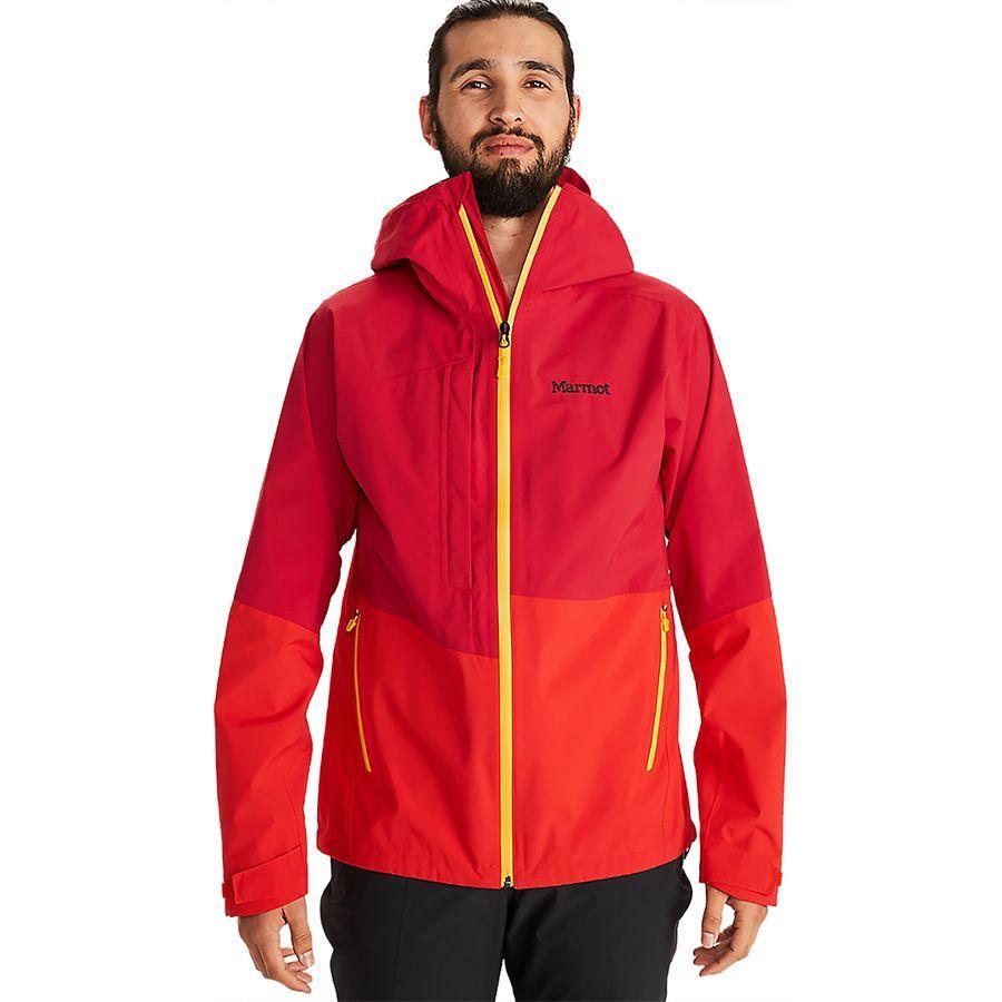 【エントリーでポイント10倍】(取寄)マーモット メンズ EVOドライ トーリーズ ジャケット Marmot Men's EVODry Torreys Jacket Team Red/Victory Red
