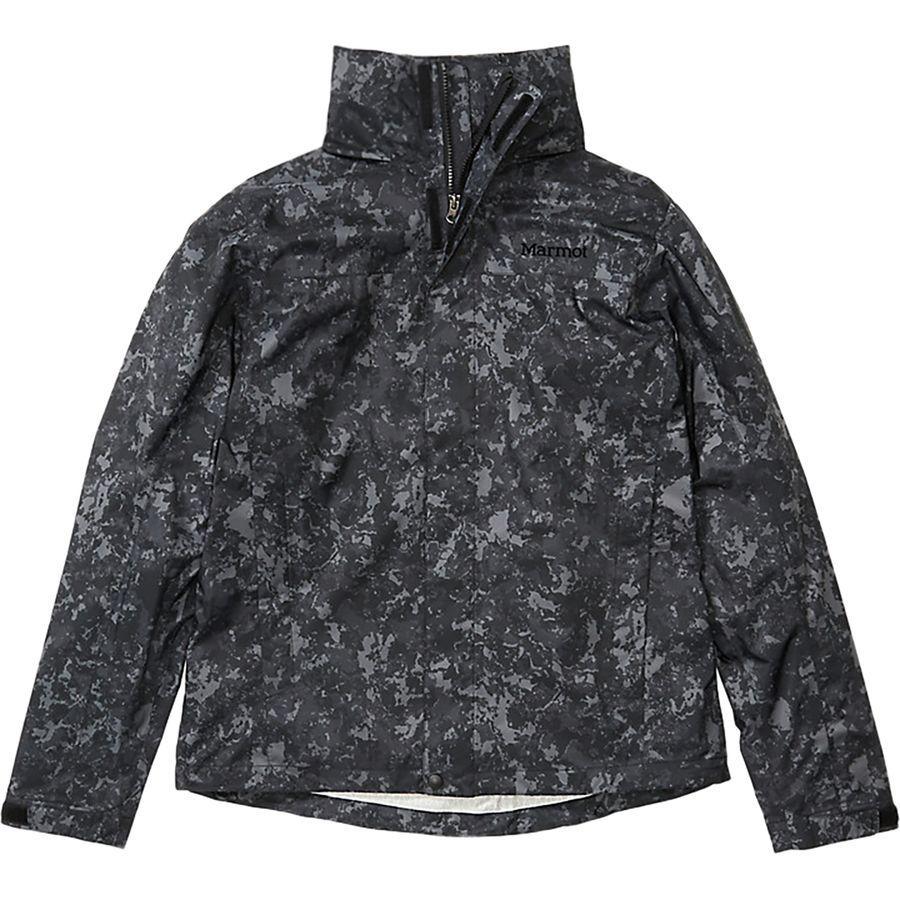 【エントリーでポイント10倍】(取寄)マーモット メンズ PreCip エコ プリント ジャケット Marmot Men's PreCip Eco Print Jacket Dark Camo