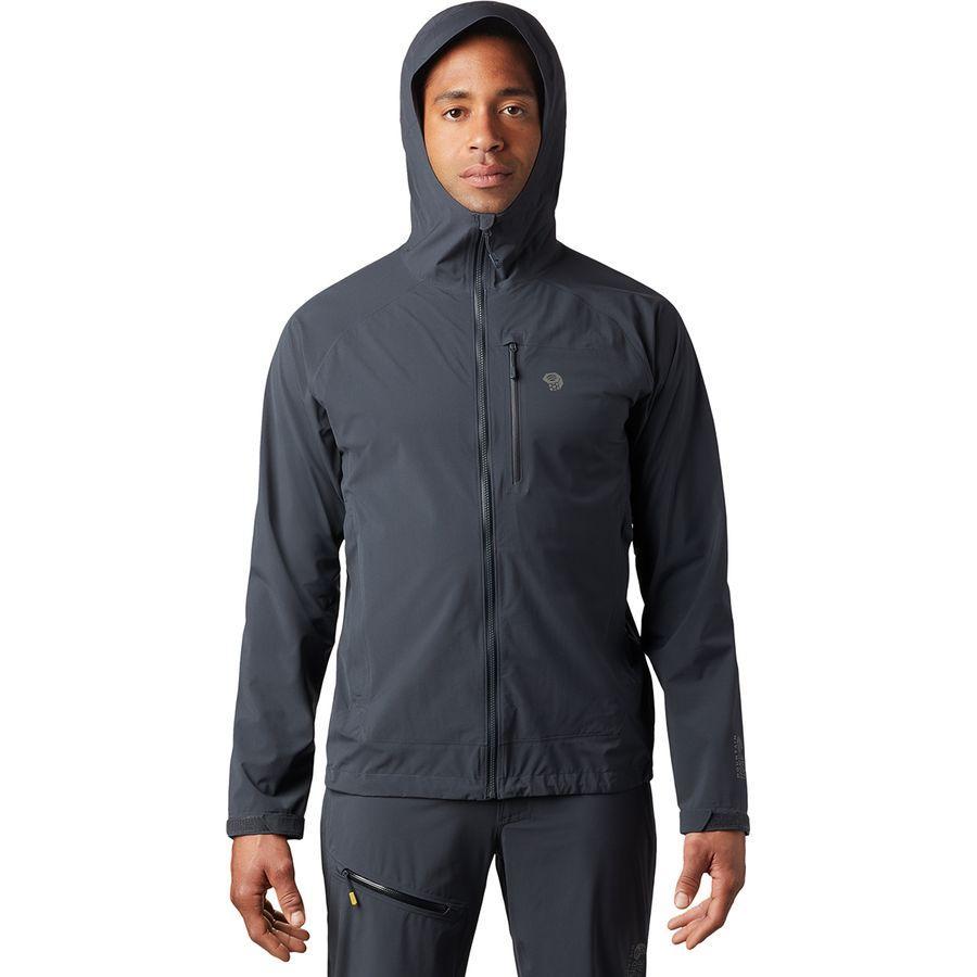 【マラソン ポイント10倍】(取寄)マウンテンハードウェア メンズ ストレッチ オゾニック ジャケット Mountain Hardwear Men's Stretch Ozonic Jacket Dark Storm