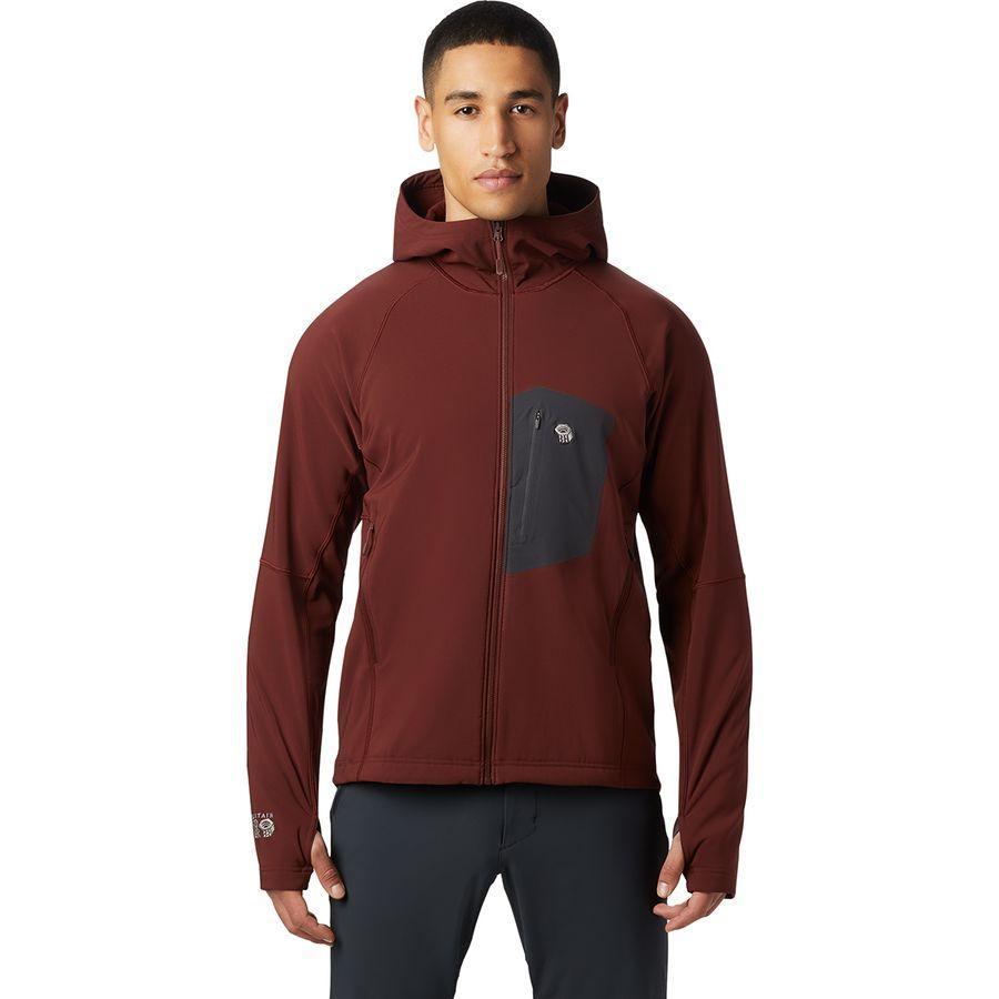 【エントリーでポイント10倍】(取寄)マウンテンハードウェア メンズ ケエレ フーデッド ジャケット Mountain Hardwear Men's Keele Hooded Jacket Dark Umber
