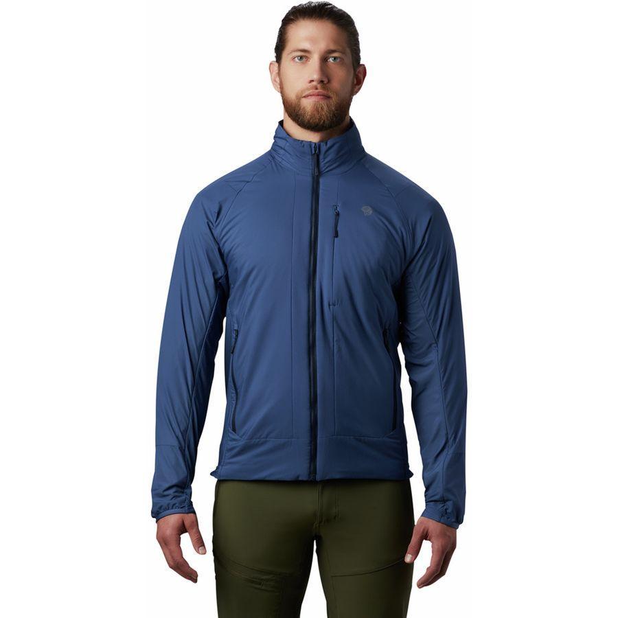 (取寄)マウンテンハードウェア メンズ コア シーラス ハイブリッド ジャケット Mountain Hardwear Men's Kor Cirrus Hybrid Jacket Better Blue