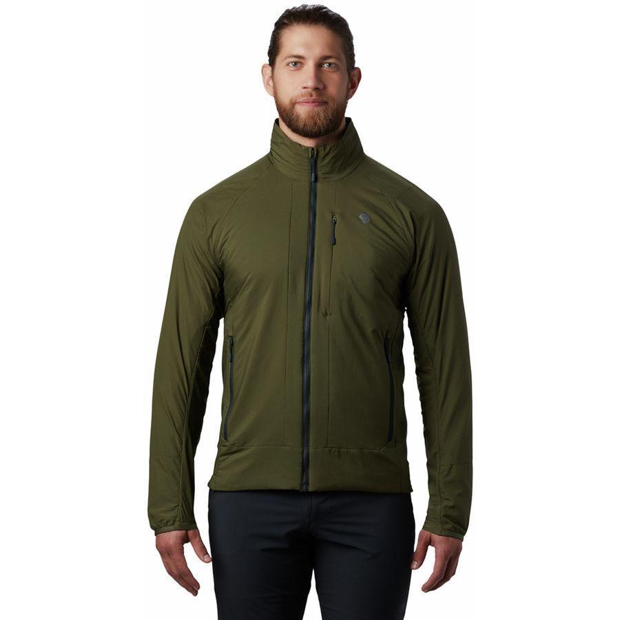 (取寄)マウンテンハードウェア メンズ コア シーラス ハイブリッド ジャケット Mountain Hardwear Men's Kor Cirrus Hybrid Jacket Dark Army