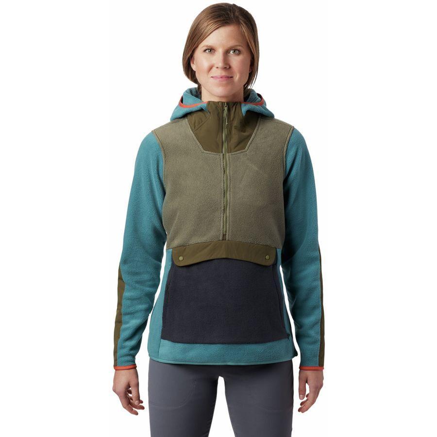 (取寄)マウンテンハードウェア レディース アンクラシック フリース フーデッド ジャケット Mountain Hardwear Women UnClassic Fleece Hooded Jacket Washed Turq