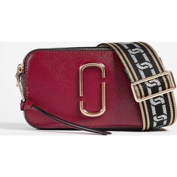 (取寄)マークジェイコブス スナップショット クロスボディ バッグ The Marc Jacobs Snapshot Crossbody Bag DeepMaroon Granite