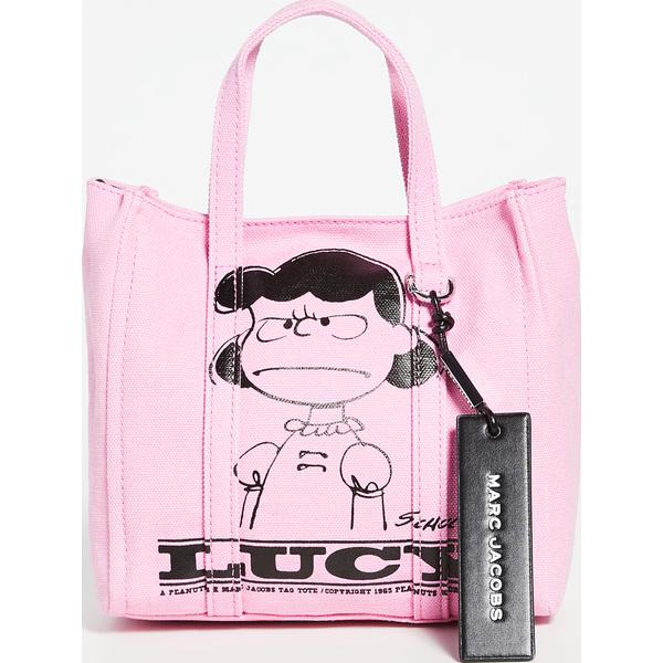 (取寄)マークジェイコブス ピーナッツ x マークジェイコブス ザ ミニ タグ トート The Marc Jacobs Peanuts x Marc Jacobs The Mini Tag Tote Pink