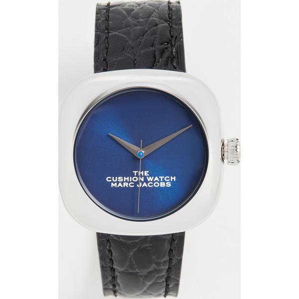 (取寄)マークジェイコブス ザ クッション ウォッチ 35mm The Marc Jacobs The Cushion Watch 35mm Black Blue