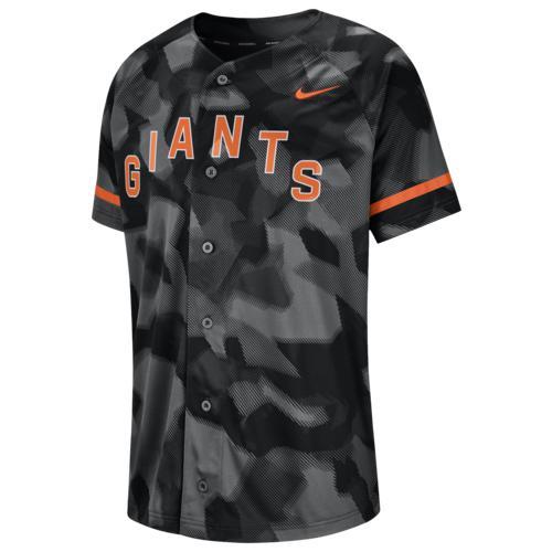 (取寄)ナイキ メンズ MLB フル バトン ジャージー サン フランシスコ ジャイアンツ Nike Men's MLB Full Button Jersey サン フランシスコ ジャイアンツ Black Camo