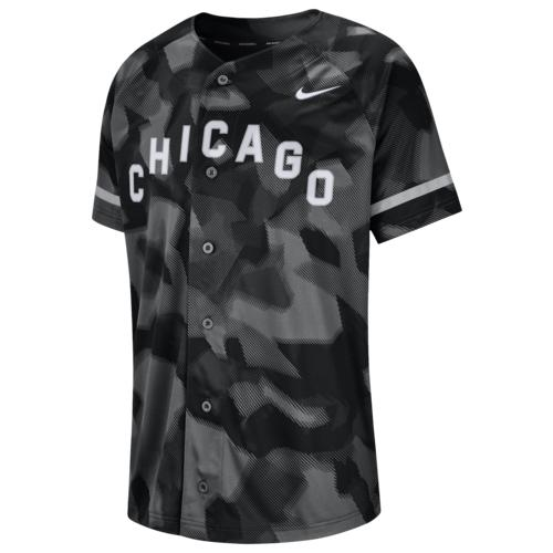 (取寄)ナイキ メンズ MLB フル バトン ジャージー シカゴ ホワイト ソックス Nike Men's MLB Full Button Jersey シカゴ ホワイト ソックス Black Camo