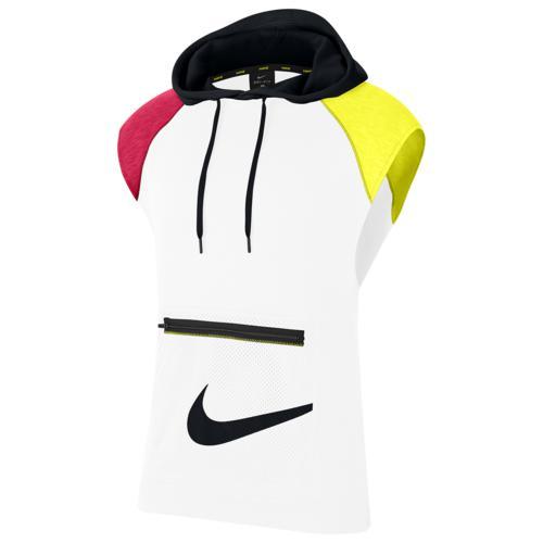 (取寄)ナイキ メンズ スリーブレス フーデット フリース プルオーバー Nike Men's Sleeveless Hooded Fleece Pullover White Lemon Venom Black