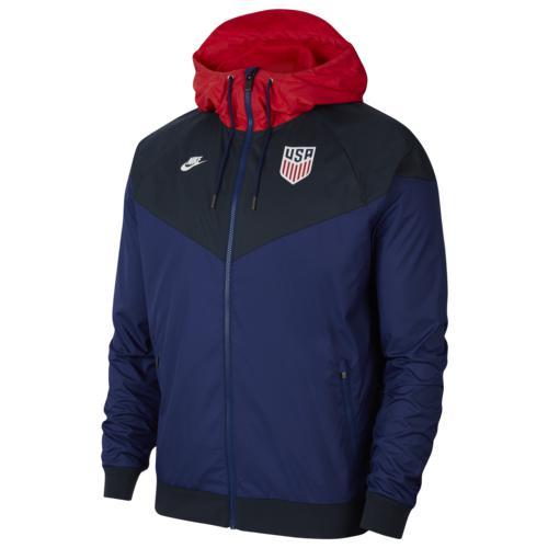 (取寄)ナイキ メンズ ウインドランナー ウーブン ジャケット Nike Men's Windrunner Woven Jacket Loyal Blue Dark Obsidian White