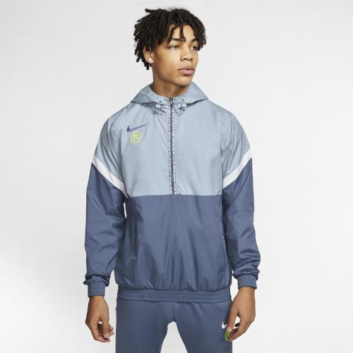 (取寄)ナイキ メンズ FC トラック ジャケット Nike Men's FC Track Jacket Obsidian Mist Diffused Blue White