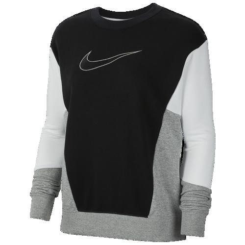 (取寄)ナイキ レディース 90's カラーブロック クルー Nike Women's 90's Colorblock Crew Black White Dark Grey Heather