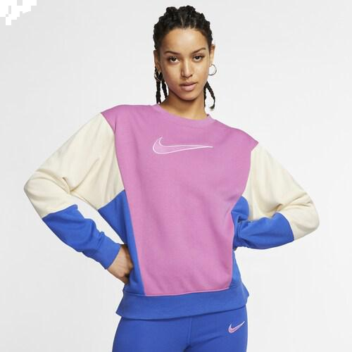 (取寄)ナイキ レディース 90's カラーブロック クルー Nike Women's 90's Colorblock Crew Cosmic Fuschsia Fossil Game Royal