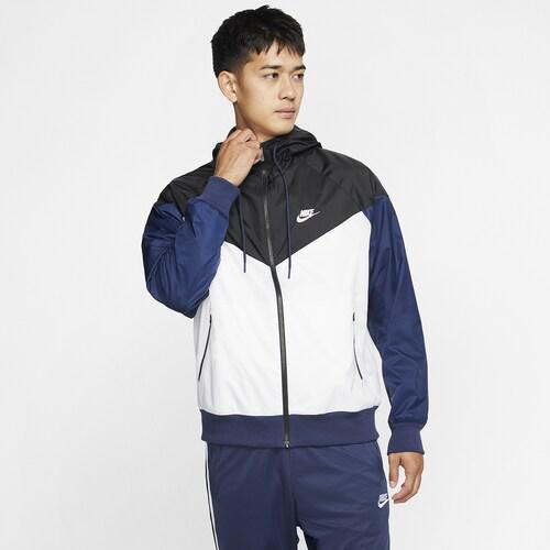 (取寄)ナイキ メンズ ウインドランナー フーデット ジャケット Nike Men's Windrunner Hooded Jacket White Black Midnight Navy