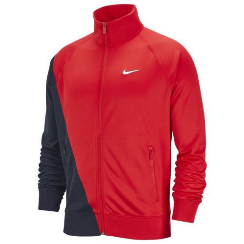 (取寄)ナイキ メンズ スウッシュ トラック ジャケット Nike Men's Swoosh Track Jacket University Red Obsidian