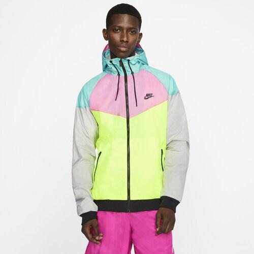 (取寄)ナイキ メンズ Amplify ウインドランナー ジャケット Nike Men's Amplify Windrunner Jacket Lotus Pink Volt Light Aqua
