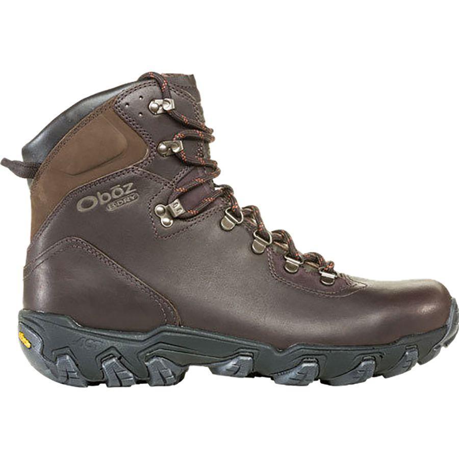 【マラソン ポイント10倍】(取寄)オボズ メンズ イエローストーン プレミアム ミッド B-Dry ハイキング ブーツ Oboz Men's Yellowstone Premium Mid B-Dry Hiking Boot Espresso