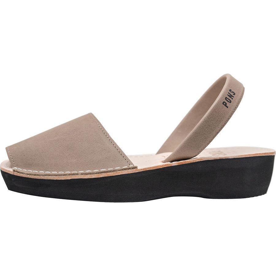 (取寄)アヴァルカ ポンズ レディース クラシック プラットフォーム サンダル Pons Avarcas Women Classic Platform Sandal Taupe