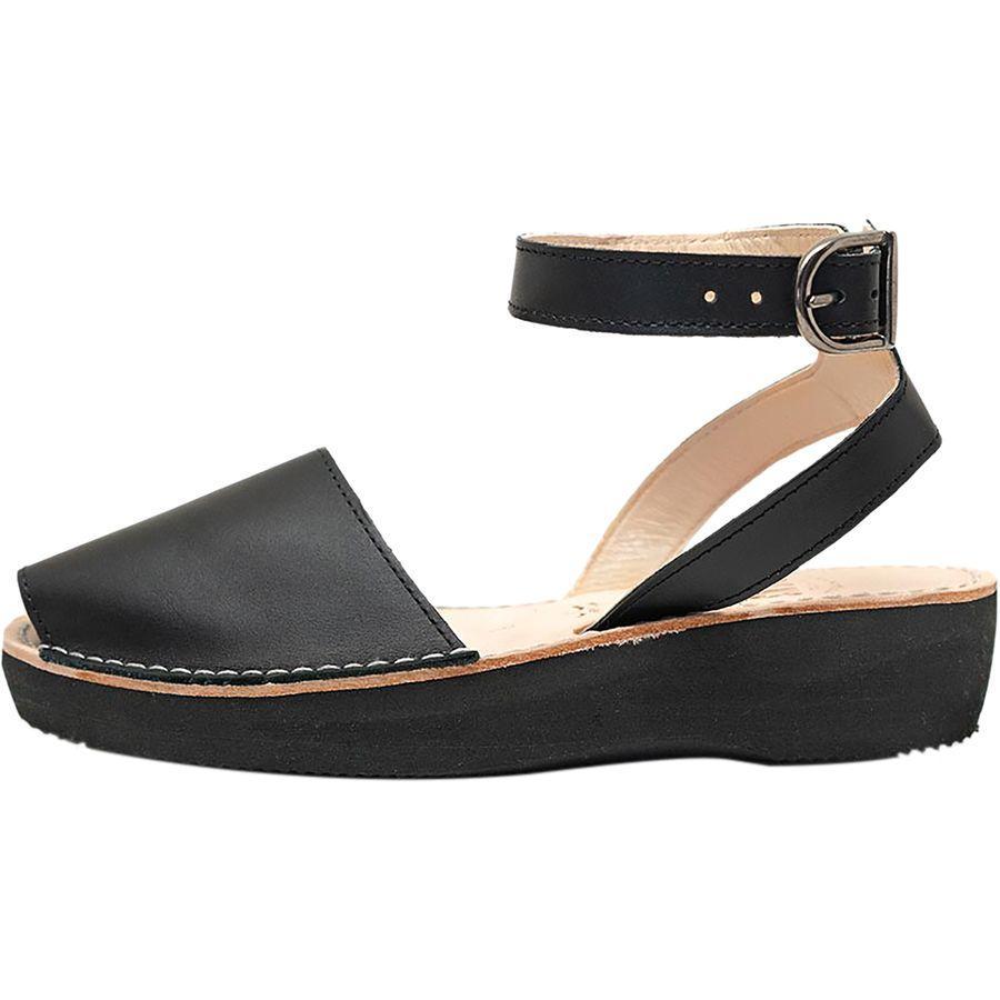 (取寄)アヴァルカ ポンズ レディース メディティレーニアン サンダル Pons Avarcas Women Mediterranean Sandal Black