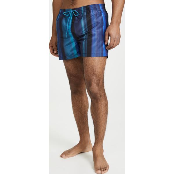 【エントリーでポイント10倍】(取寄)ピーエス ポールスミス ブルー ストライプ スイム トランクス PS Paul Smith Blue Stripe Swim Trunks Blue