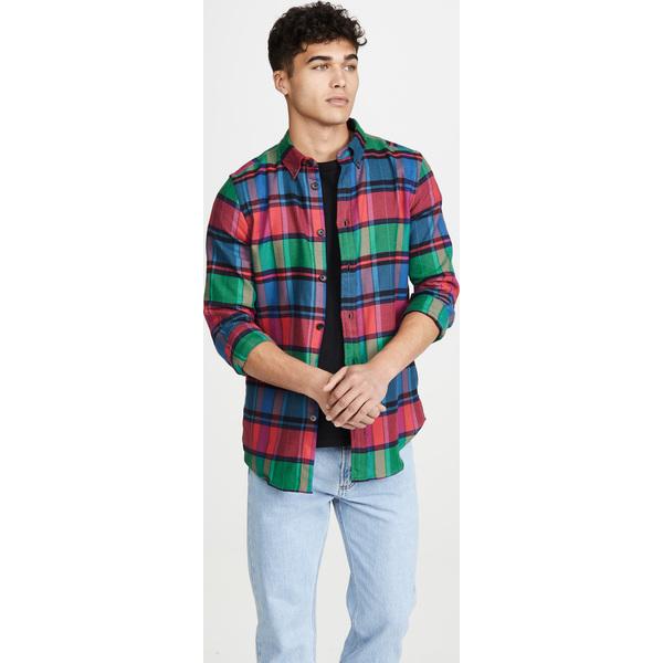 【エントリーでポイント10倍】(取寄)ピーエス ポールスミス テーラード フランネル プレイド シャツ PS Paul Smith Tailored Flannel Plaid Shirt Red