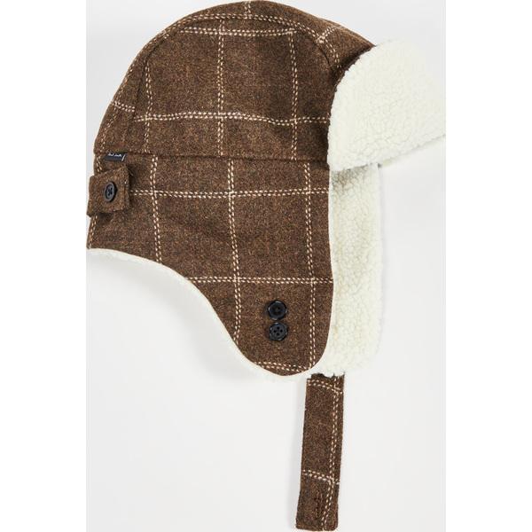 (取寄)ポールスミス チェック トラッパー ハット Paul Smith Check Trapper Hat Khaki