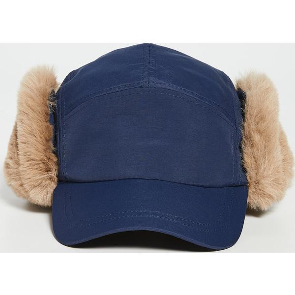 (取寄)ポールスミス フォー ファー キャップ Paul Smith Faux Fur Cap Navy