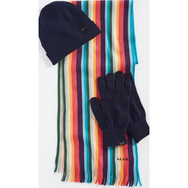 (取寄)ポールスミス ハット グローブ アンド スカーフ ギフト セット Paul Smith Hat, Gloves & Scarf Gift Set Assorted