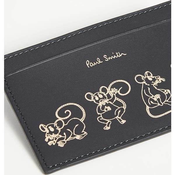 (取寄)ポールスミス ラット プリント クレジット カード ケース Paul Smith Rat Print Credit Card Case Black