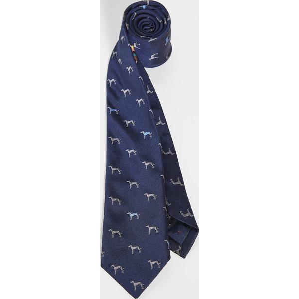 (取寄)ポールスミス ドッグ プリント タイ Paul Smith Dog Print Tie Navy