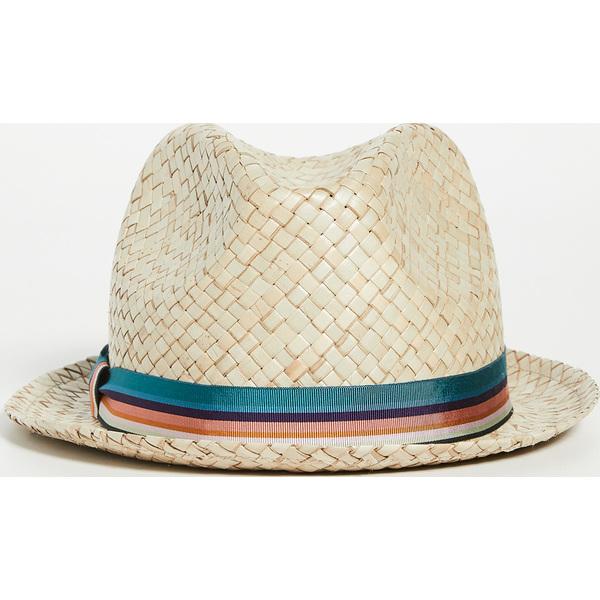 (取寄)ポールスミス ボーベンス ストロー ハット Paul Smith Bovens Straw Hat Natural Multi