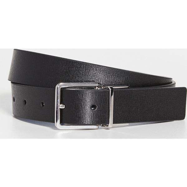 (取寄)ポールスミス カット トゥ フィット リバーシブル ベルト Paul Smith Cut To Fit Reversible Belt Black