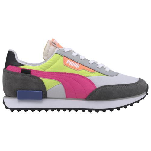 (取寄)プーマ レディース シューズ プーマ フューチャー ライダー Women's Shoes PUMA Future Rider White Castlerock Yellow Alert