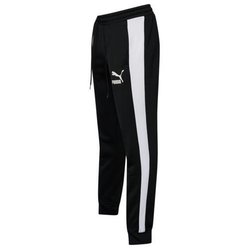 (取寄)プーマ メンズ プーマ アイコニック T7 トラック パンツ Men's PUMA Iconic T7 Track Pants Black White