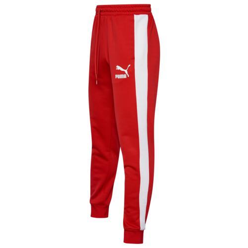 (取寄)プーマ メンズ プーマ アイコニック T7 トラック パンツ Men's PUMA Iconic T7 Track Pants High Risk Red White