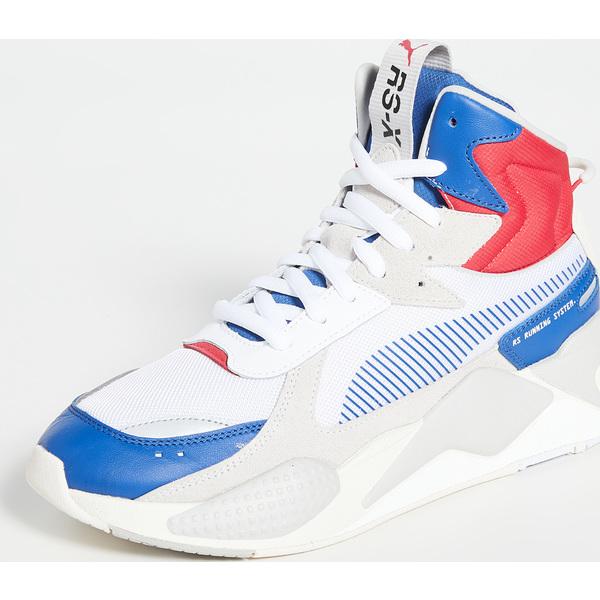 (取寄)プーマ セレクト RS-X RS-X ミッドトップ ミッドトップ ユーティリティ スニーカー PUMA Select RS-X Midtop Utility Sneakers GalaxyBlue PumaWhite