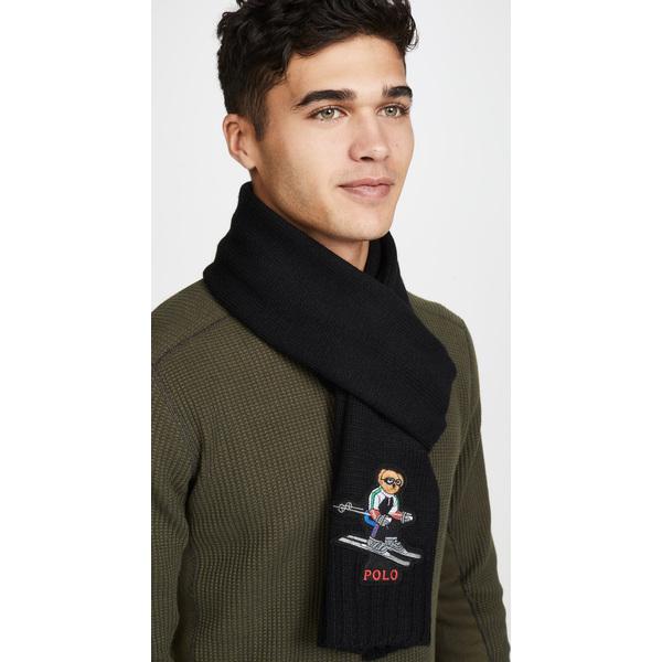 (取寄)ポロ ラルフローレン ポロ スキー ベアー スカーフ Polo Ralph Lauren Polo Ski Bear Scarf Black