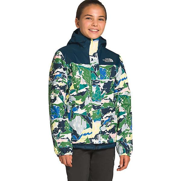 【エントリーでポイント10倍】(取寄)ノースフェイス ガールズ リゾルブ リフレクティブ ジャケット The North Face Girls' Resolve Reflective Jacket Jaiden Green Valley Block Print
