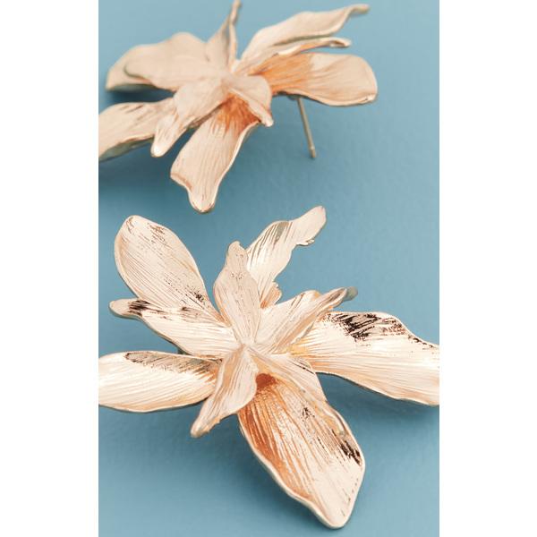 (取寄)シャシ パッションフラワー ピアス Shashi Passionflower Earrings Gold