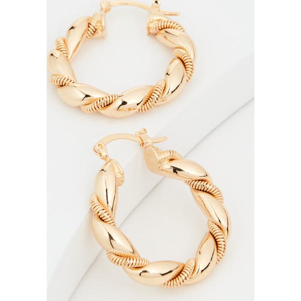 (取寄)シャシ ソウ ツイステッド フープ Shashi So Twisted Hoops Gold